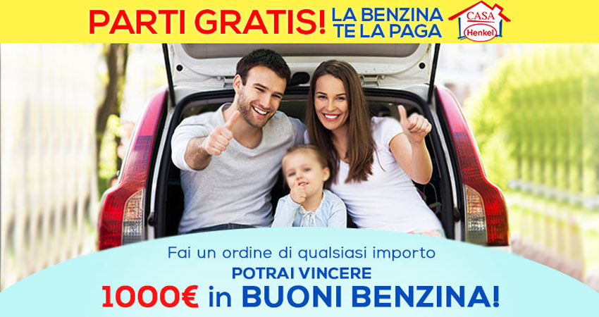 Vinci 1000€ di buoni benzina Total Erg con Casa Henkel