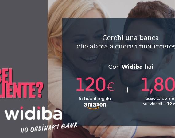 Con Conto Widiba 120 euro buoni Amazon