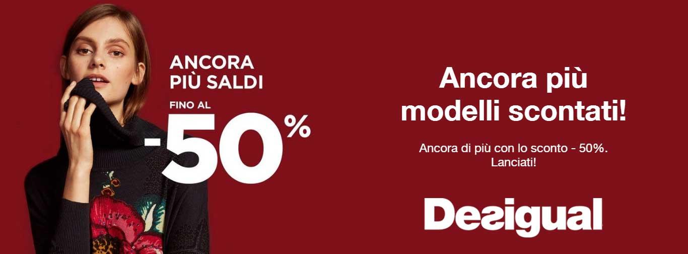I saldi invernali 2017 su Desigual: sconti fino al 50% su moda e accessori per donna, uomo e kids. © Desigual