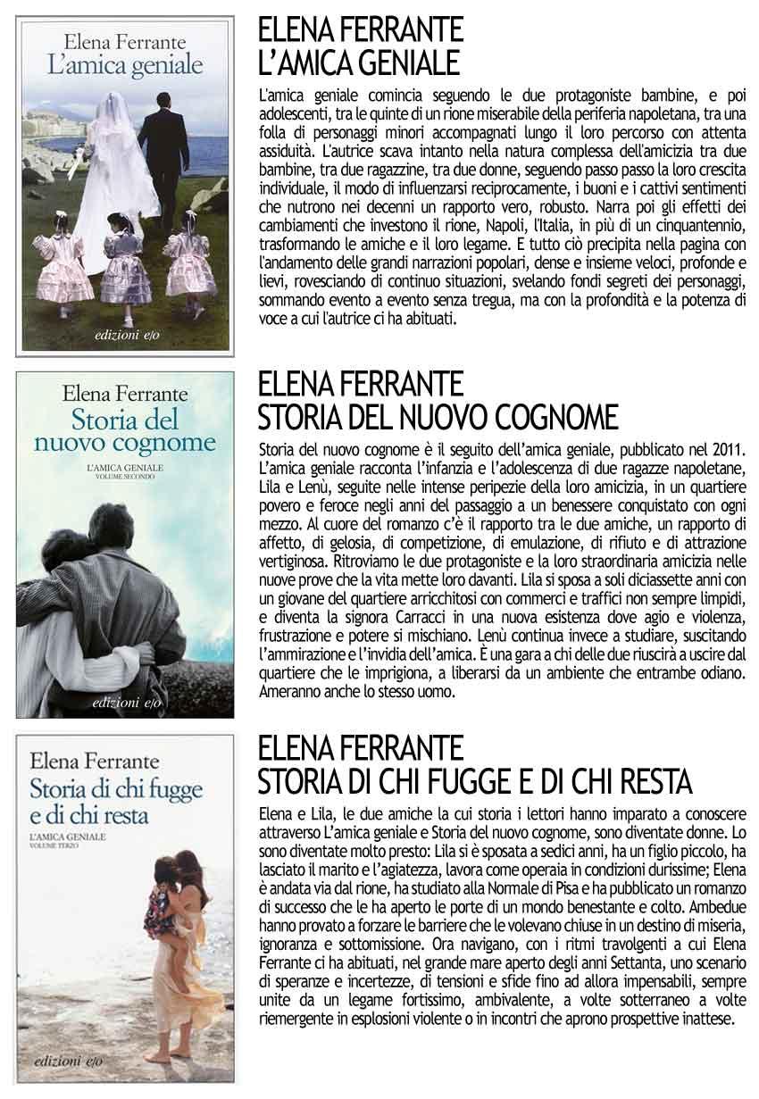 Elena Ferrante: L'Amica Geniale - Storia del Nuovo Cognome - Storia di chi Fugge e di chi Resta