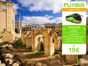 FlixBus nuova tratta Bergamo - Lecce attiva dal 09/06/2016