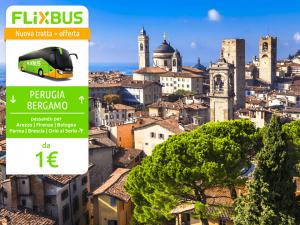 FlixBus nuova tratta Bergamo - Perugia attiva dal 26/05/2016