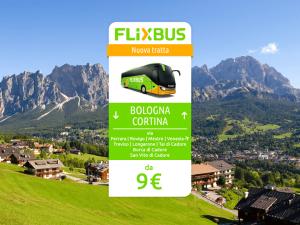 FlixBus nuova tratta Cortina d'Ampezzo - Bologna attiva dal 18/07/2016 (in collaborazione con FLY BUS srl)