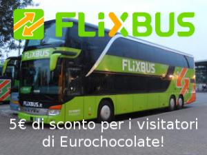 FlixBus ti regala un coupon da 5€ e ti porta a Eurochocolate!