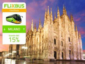 FlixBus Sconto del 15% sui collegamenti da/per Milano, con il codice GCA2266X. Fino al 04/06/2017