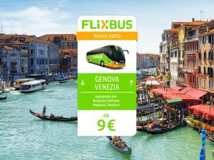 FlixBus nuova tratta Genova - Venezia attiva dal 14/07/2016
