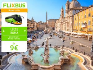 FlixBus nuova tratta Lecce - Roma attiva dal 14/07/2016