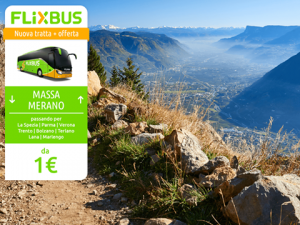 FlixBus nuova tratta Massa - Merano attiva dal 26/05/2016