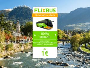 FlixBus nuova tratta Merano - Roma attiva dal 31/05/2016