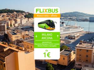 FlixBus nuova tratta Milano - Ancona attiva dal 09/06/2016