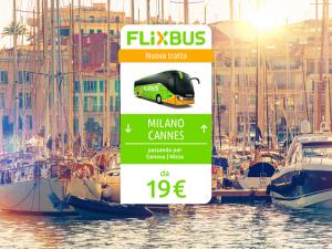 FlixBus nuova tratta internazionale Milano - Cannes attiva dal 21/07/2016