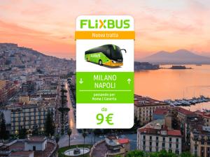 FlixBus nuova tratta Milano - Napoli attiva dal 31/05/2016