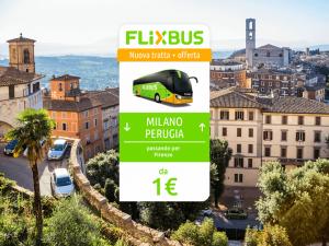 FlixBus nuova tratta Milano - Perugia attiva dal 31/05/2016
