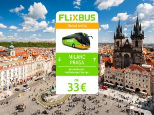 FlixBus nuova tratta internazionale Milano - Perugia attiva dal 06/06/2016