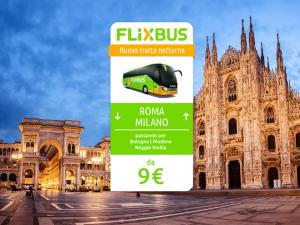 FlixBus nuova tratta notturna Milano - Roma attiva dal 31/05/2016