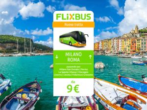 FlixBus nuova tratta Milano - Roma attiva dal 23/06/2016 (Riviera Ligure, Cinque Terre, Versilia)