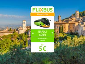 FlixBus nuova tratta Napoli - Assisi attiva dal 14/07/2016 (in collaborazione con SULGA srl)