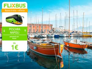 FlixBus nuova tratta Napoli - Pescara attiva dal 19/05/2016