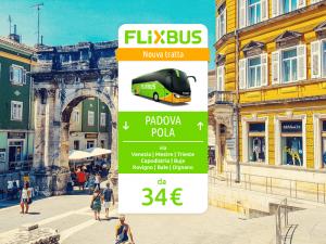 FlixBus nuova tratta internazionale Padova - Pola