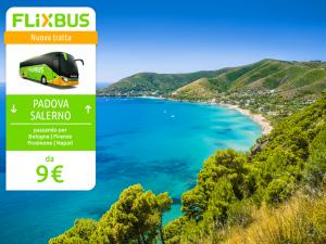 FlixBus nuova tratta Padova - Salerno attiva dal 14/07/2016 (Frosinone nuova fermata)
