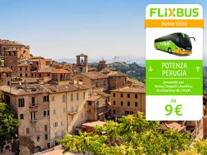 FlixBus nuova tratta Perugia - Potenza