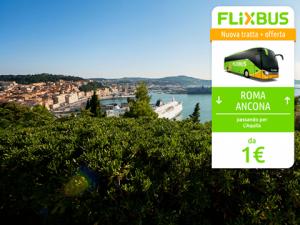 FlixBus nuova tratta Roma - Ancona passando per L'Aquila attiva dal 30/06/2016