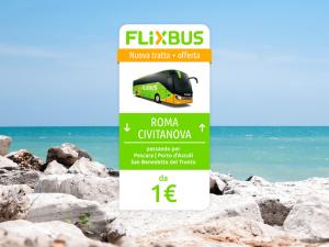 FlixBus nuova tratta Roma - Civitanova Marche