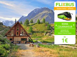 FlixBus nuova tratta Roma - Courmayeur attiva dal 21/07/2016