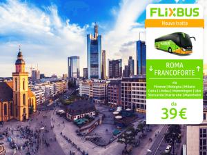 FlixBus nuova tratta internazionale Roma - Francoforte