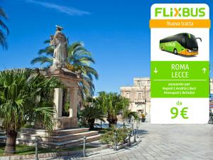 FlixBus nuova tratta Roma - Lecce attiva dal 14/07/2016 corse diurne/notturne