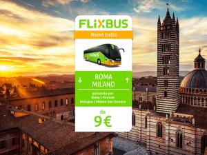 FlixBus nuova tratta Roma - Milano attiva dal 23/06/2016