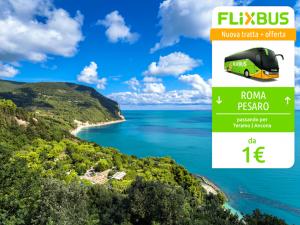 FlixBus nuova tratta Roma - Pesaro attiva dal 16/06/2016