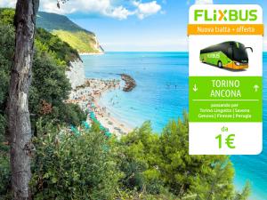 FlixBus nuova tratta Torino - Ancona attiva dal 14/07/2016