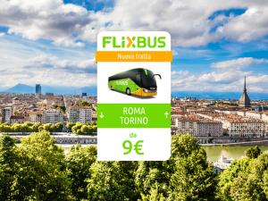 FlixBus nuova tratta Torino - Roma