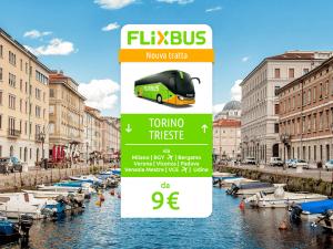 FlixBus nuova tratta Torino - Trieste
