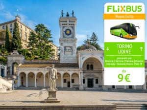 FlixBus nuova tratta Torino - Udine attiva dal 14/07/2016