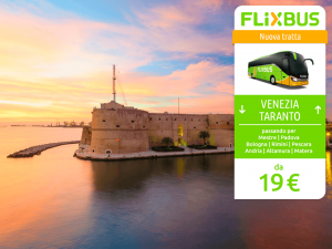 FlixBus nuova tratta Venezia - Taranto attiva dal 09/06/2016