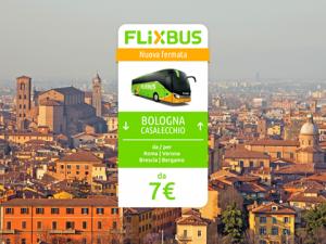 FlixBus nuova fermata Bologna Casalecchio disponibile dal 23/06/2016