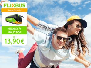 FlixBus nuova fermata Milano Malpensa disponibile dal 06/12/2016