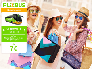 FlixBus nuova fermata Serravalle Outlet disponibile dal 23/06/2016