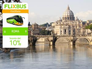 FlixBus Sconto del 10% sulle tratte diurne da/per Roma con il codice ROMA9C. Fino al 25/09/2016.