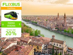 FlixBus Sconto del 20% sulle tratte Parma ↔ Verona, L'Aquila ↔ Ancona, Caserta ↔ Foggia con il codice SOLE4M. Fino al 04/09/2016.