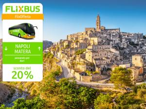 FlixBus Sconto del 20% sui collegamenti tra Bari, Napoli e Matera con il codice NAPLESZ. Fino al 20/10/2016, su tratte ed orari selezionati.