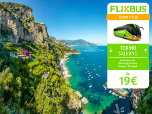 FlixBus nuova tratta notturna Torino - Salerno attiva dal 30/06/2016