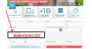 HelloBank codice promozionale per buoni acquisto Amazon