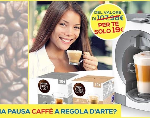 Macchina Nescafé in offerta con Casa Henkel: a soli 19€ con una spesa minima di 49,99€ su Casa Henkel!