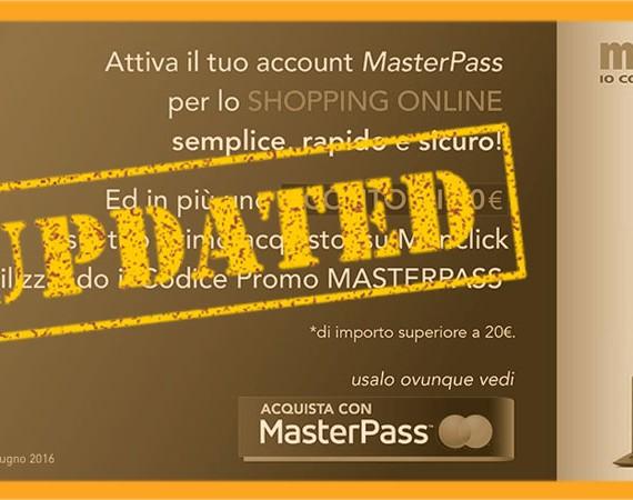 MasterPass e Monclick ti regalano 5 euro sul tuo primo acquisto su monclick.it