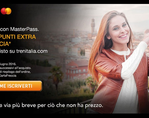 MasterPass e Trenitalia 200 punti extra CartaFRECCIA