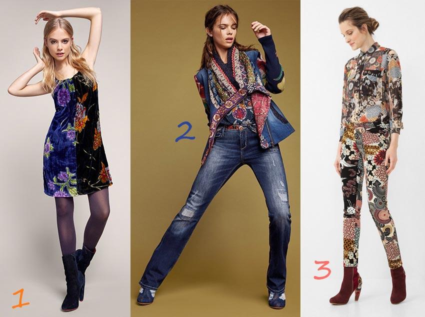 Moda Autunno 2016, i top trend di Desigual: velluto, denim, total print.