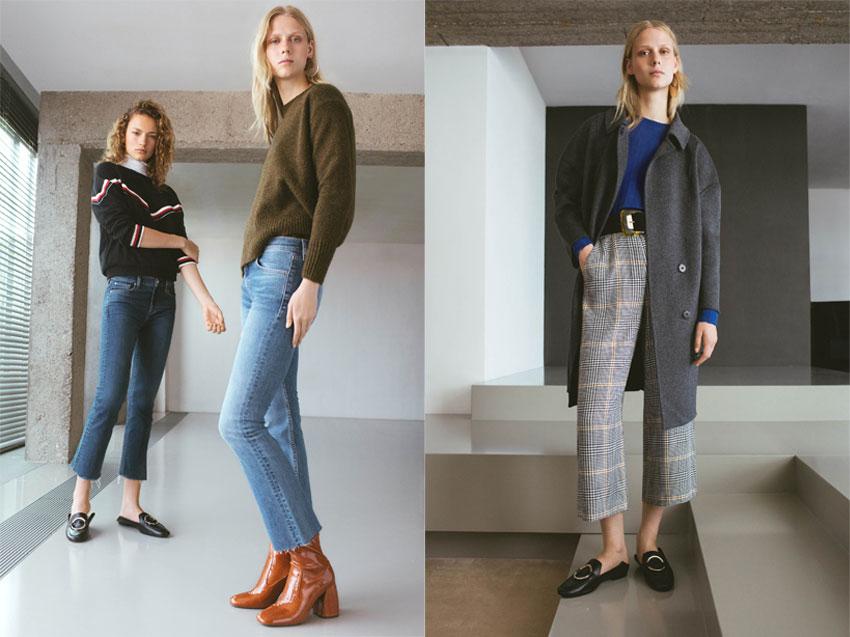 Moda Autunno 2016, i must have di Mango: jeans sopra la caviglia e felpe, capi sartoriali di taglio maschili, borse vintage e slippers.